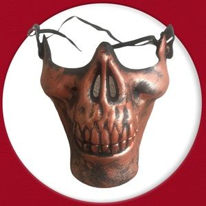 New skull half mask bronze not medical